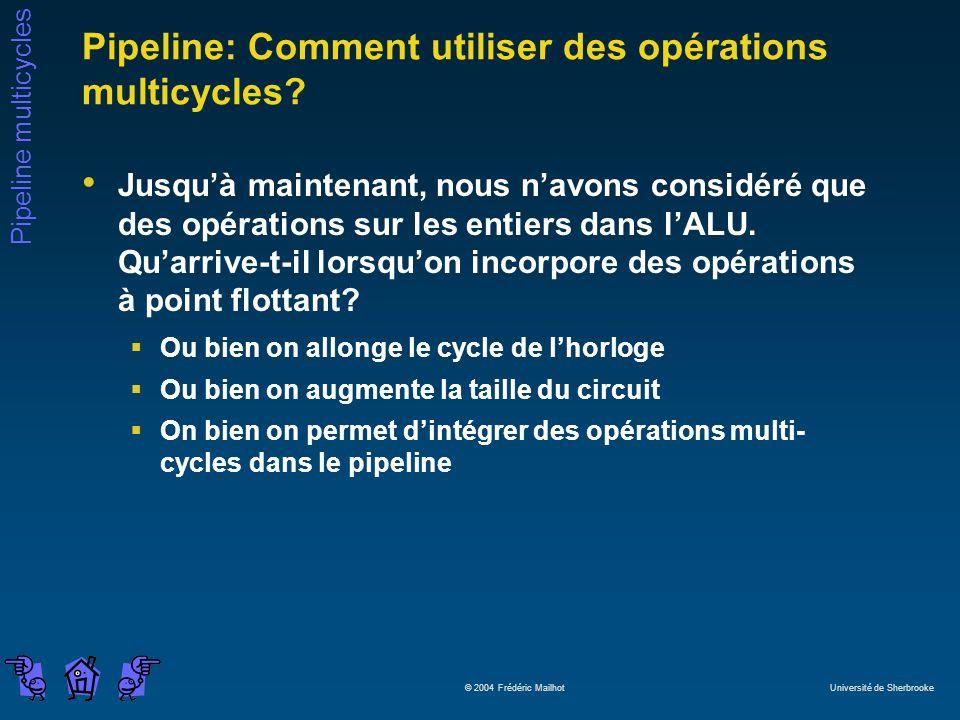 Pipeline: Comment utiliser des opérations multicycles
