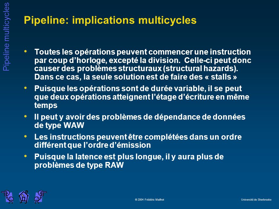 Pipeline: implications multicycles