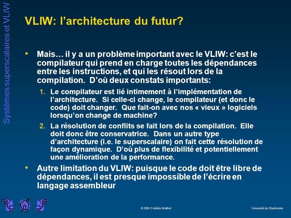 VLIW: l'architecture du futur