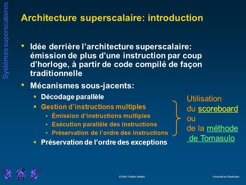 Architecture superscalaire: introduction