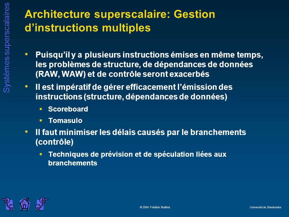 Architecture superscalaire: Gestion d'instructions multiples