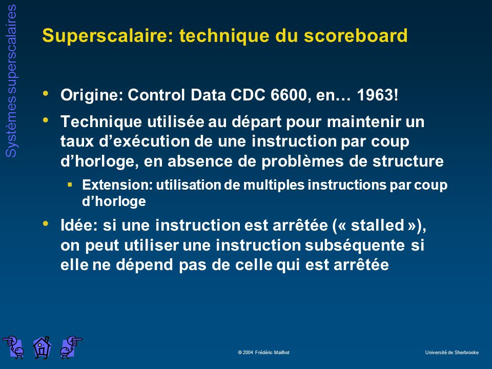 Superscalaire: technique du scoreboard