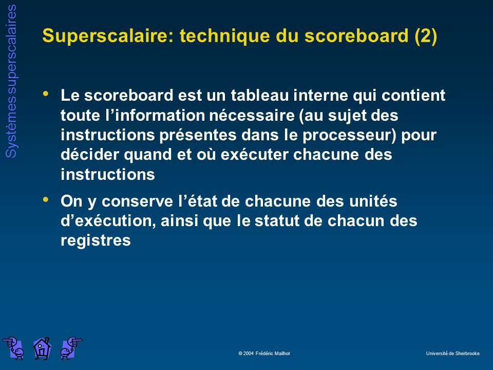 Superscalaire: technique du scoreboard (2)