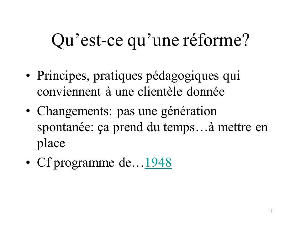 Qu'est-ce qu'une réforme