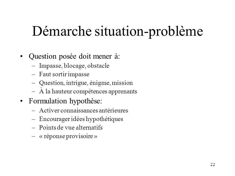 Démarche situation-problème