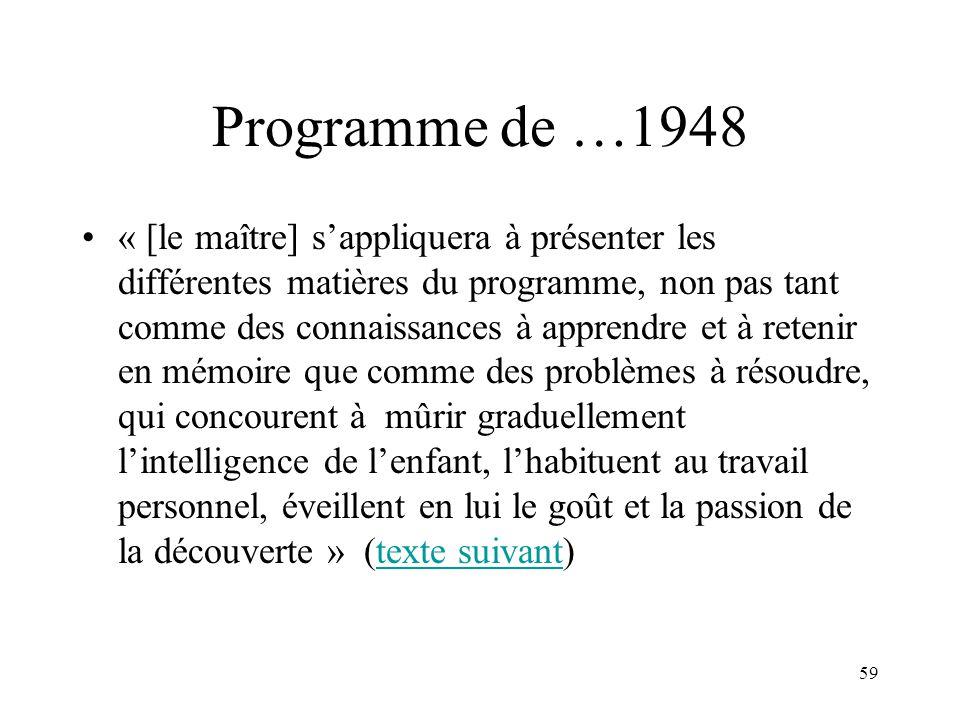 Programme de …1948