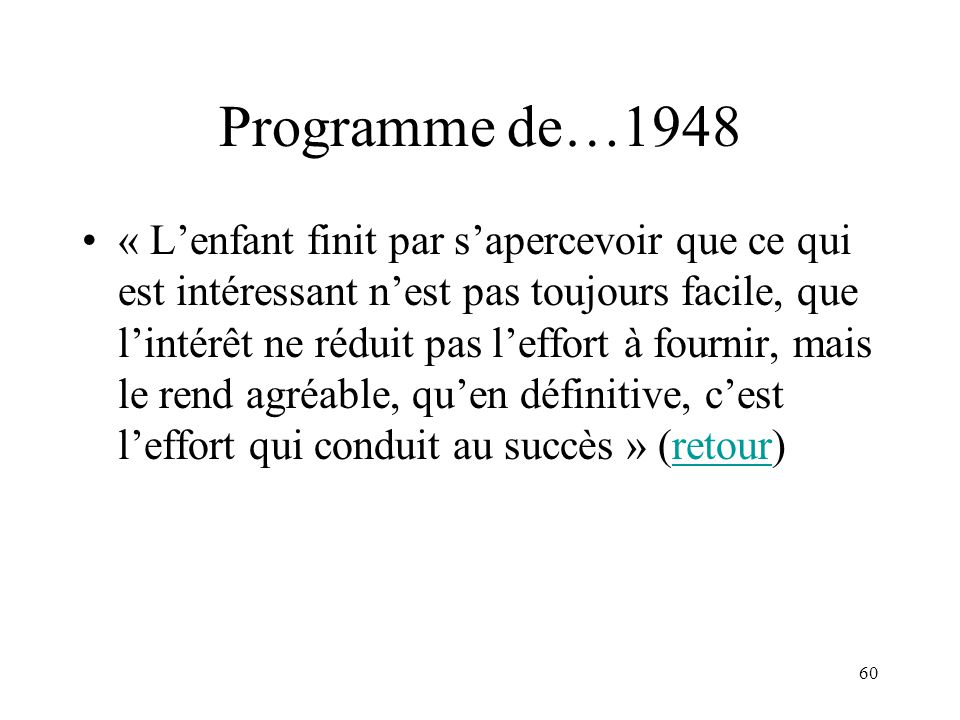 Programme de…1948
