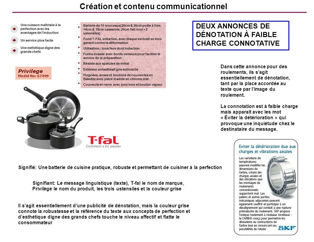 Création et contenu communicationnel