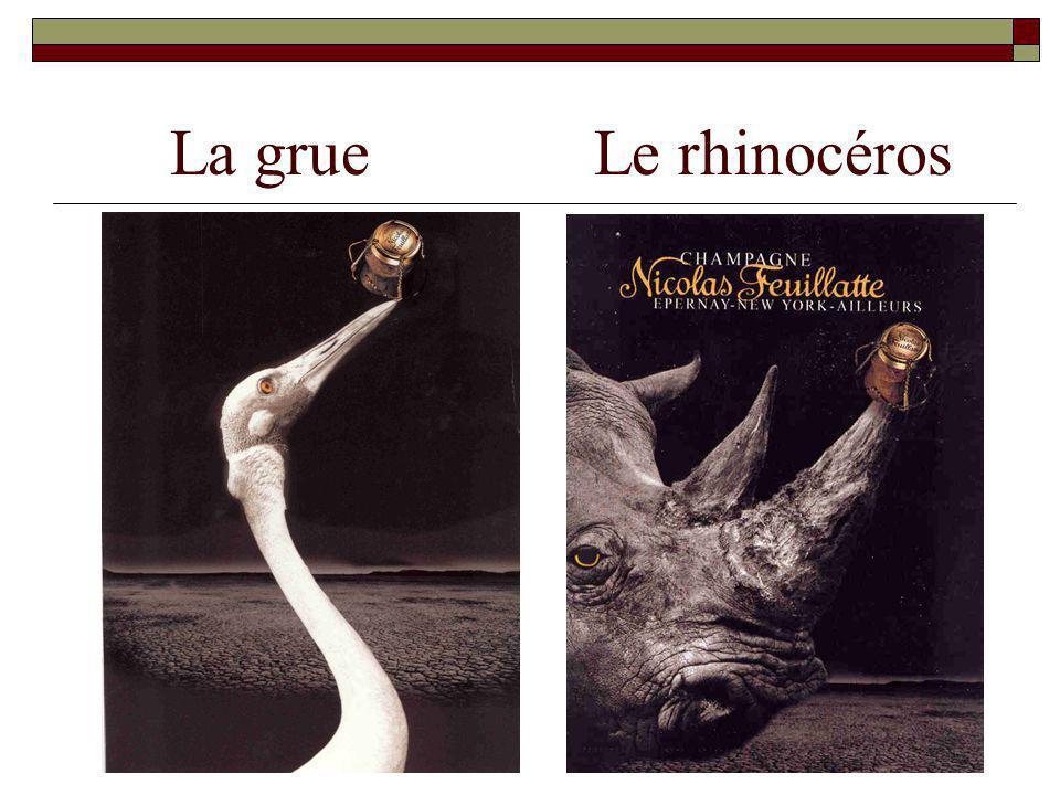 La grue Le rhinocéros
