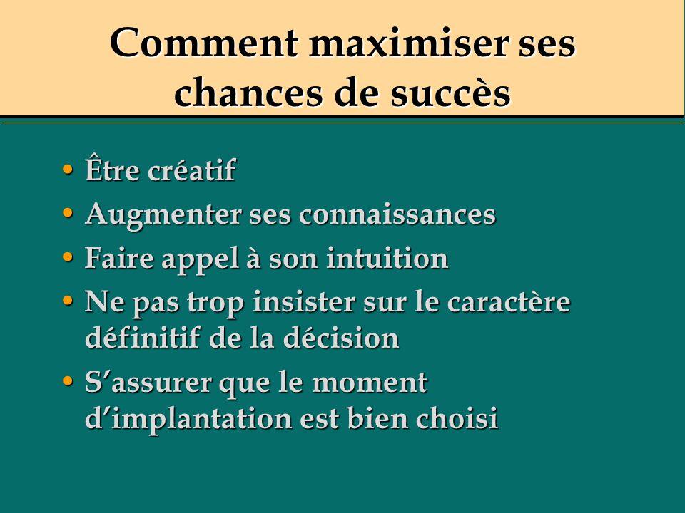 Comment maximiser ses chances de succès
