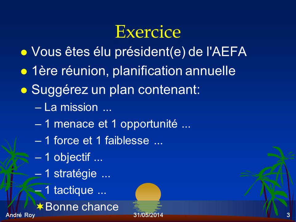 Exercice Vous êtes élu président(e) de l AEFA
