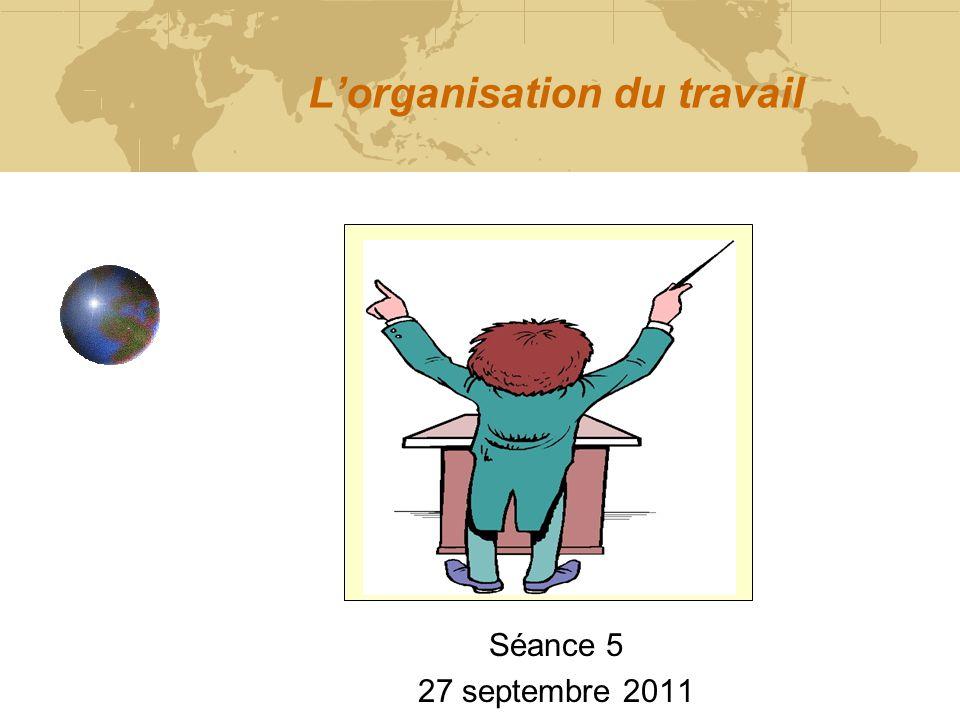 L'organisation du travail