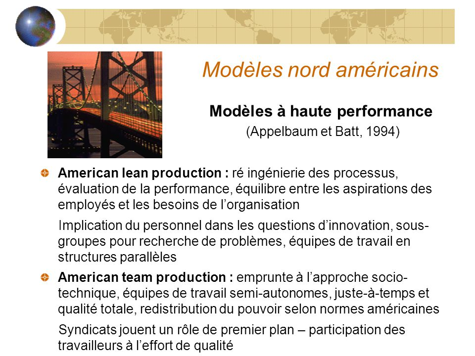 Modèles nord américains