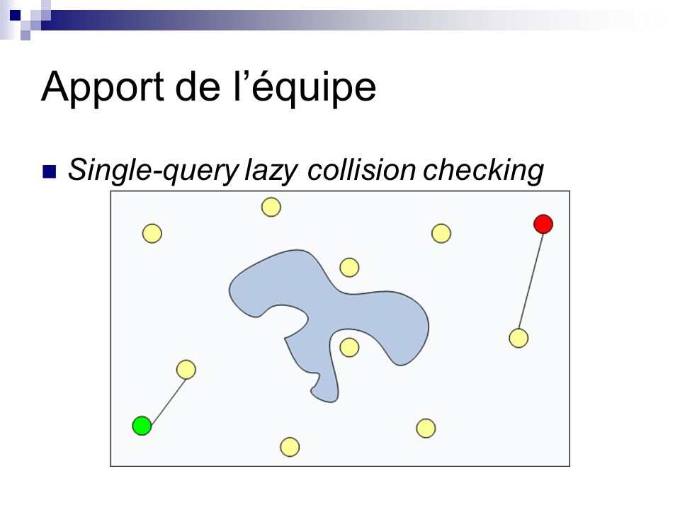 Apport de l'équipe Single-query lazy collision checking