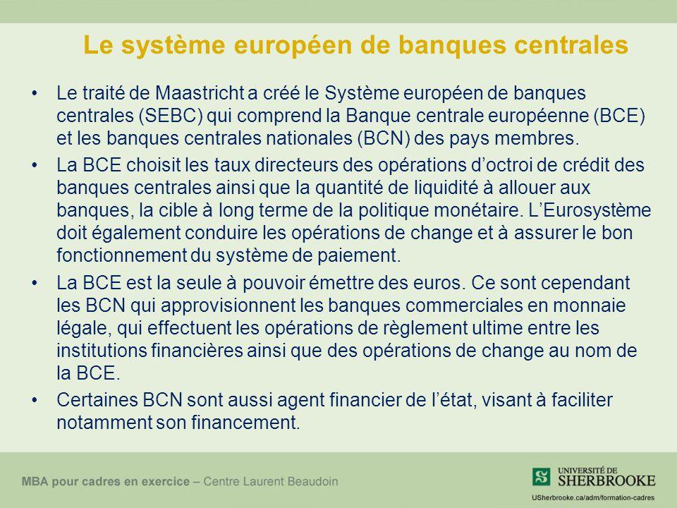 Le système européen de banques centrales