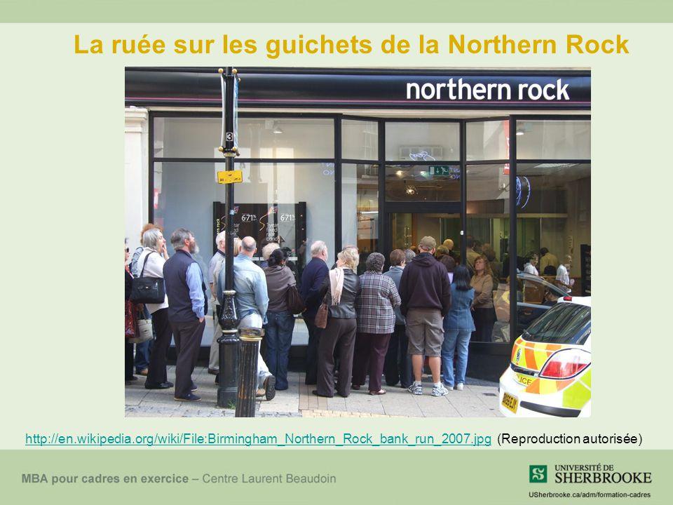 La ruée sur les guichets de la Northern Rock