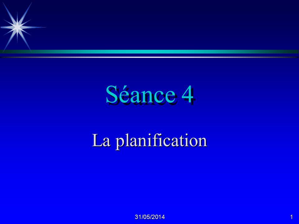 Séance 4 La planification