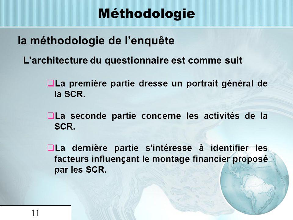 Méthodologie la méthodologie de l'enquête