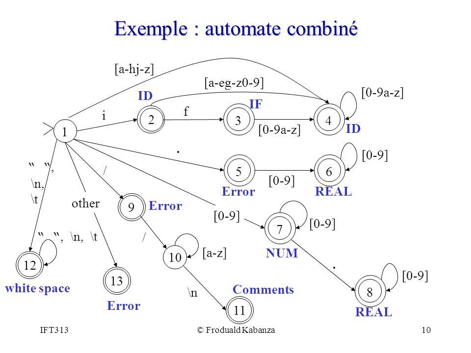 Exemple : automate combiné