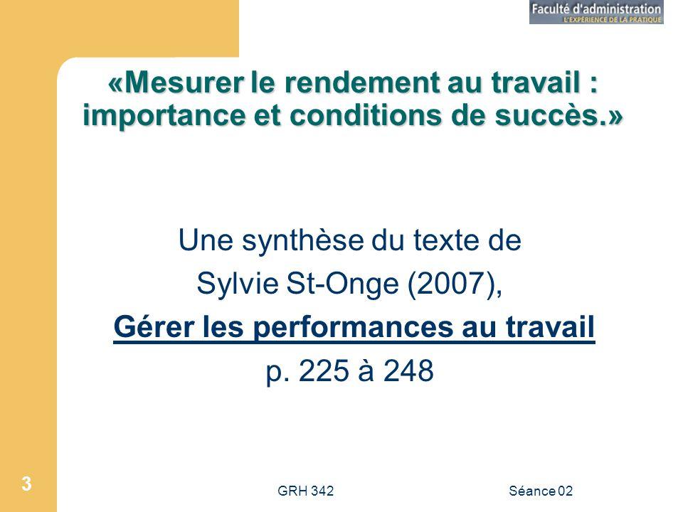 Une synthèse du texte de Sylvie St-Onge (2007),