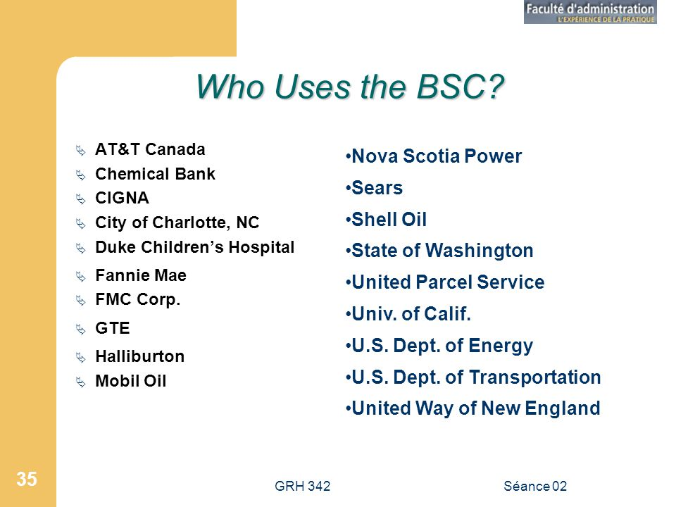 Who Uses the BSC Nova Scotia Power Sears Shell Oil