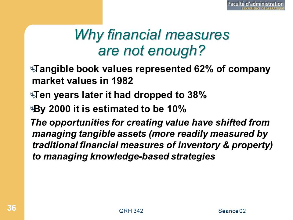Why financial measures are not enough