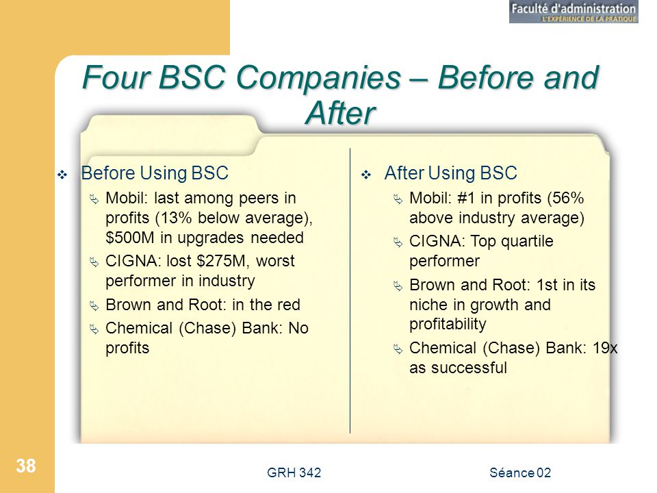 Four BSC Companies – Before and After