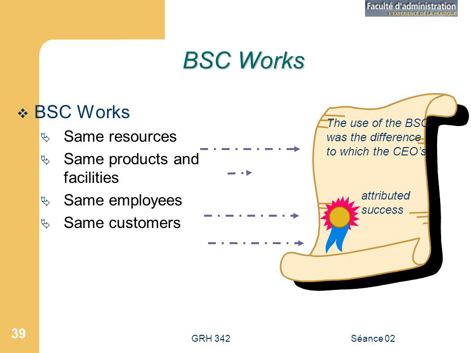 BSC Works BSC Works Same resources Same products and facilities