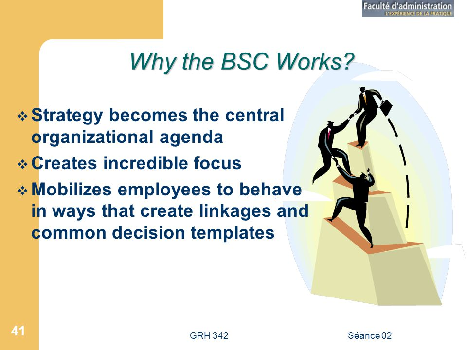 Why the BSC Works Strategy becomes the central organizational agenda