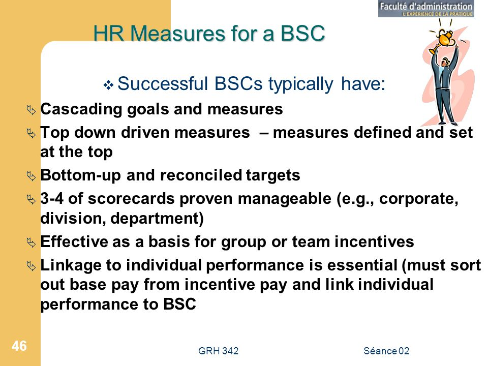 Successful BSCs typically have: