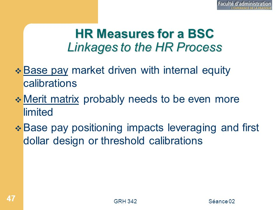 HR Measures for a BSC Linkages to the HR Process