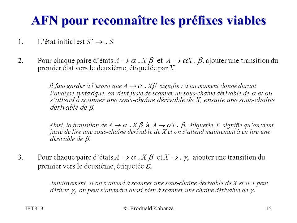 AFN pour reconnaître les préfixes viables