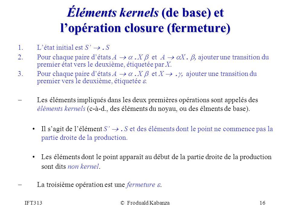 Éléments kernels (de base) et l'opération closure (fermeture)