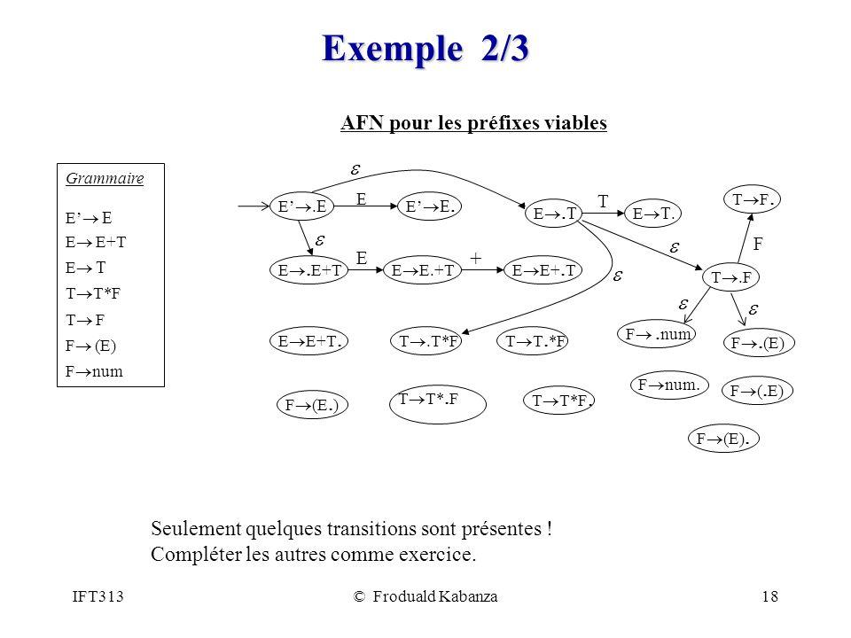 AFN pour les préfixes viables