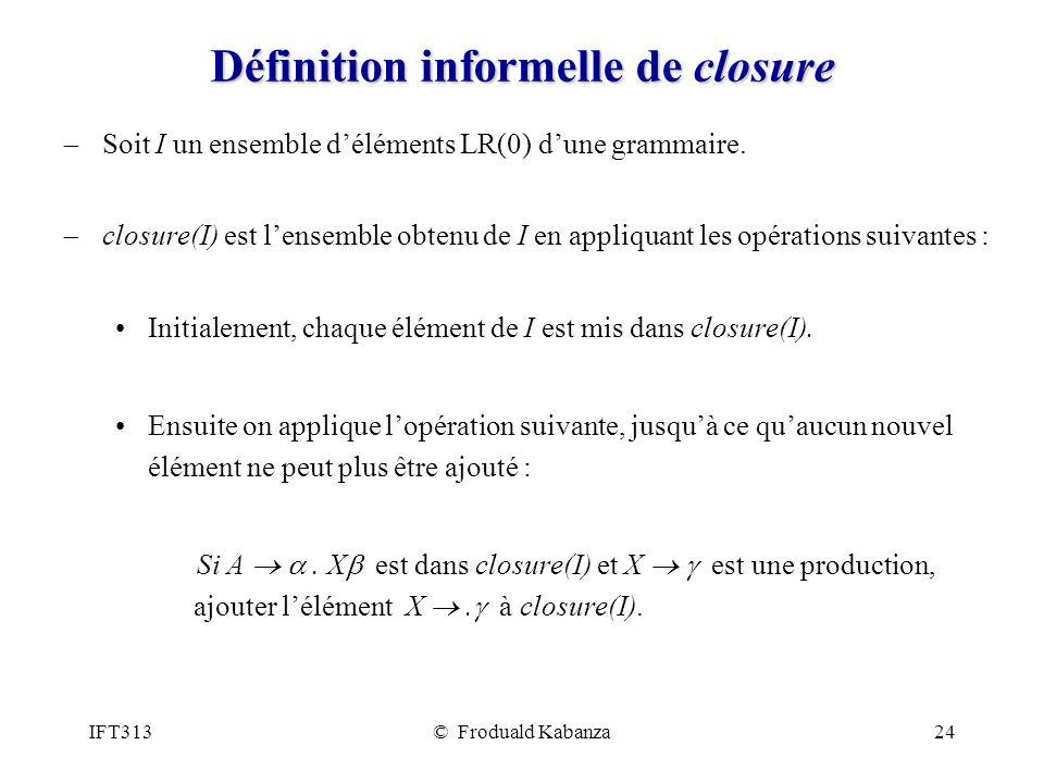 Définition informelle de closure