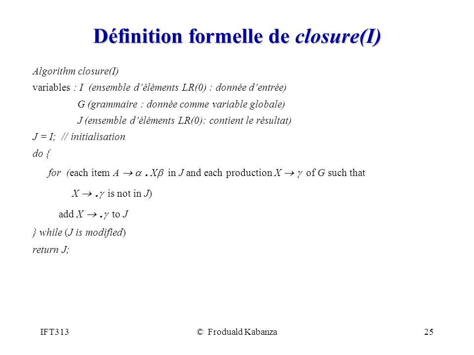 Définition formelle de closure(I)
