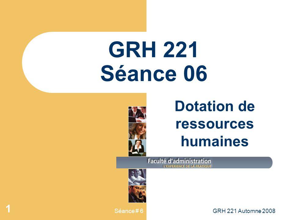 Dotation de ressources humaines