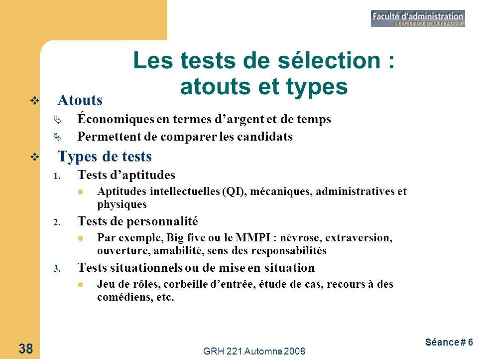 Les tests de sélection : atouts et types