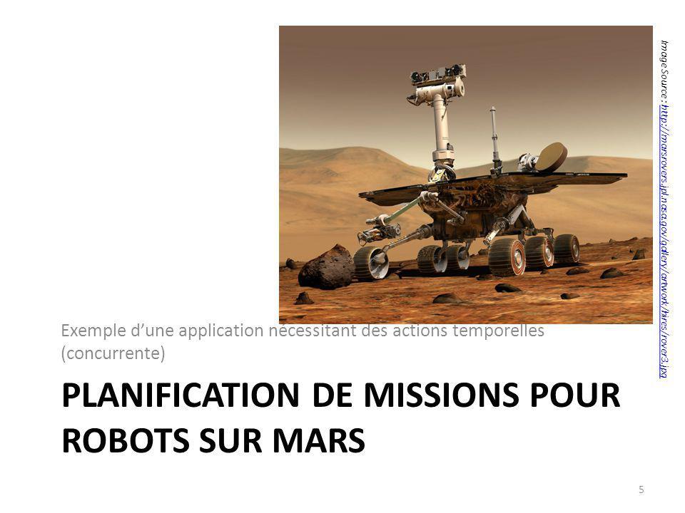 Planification de missions pour robots sur MARS