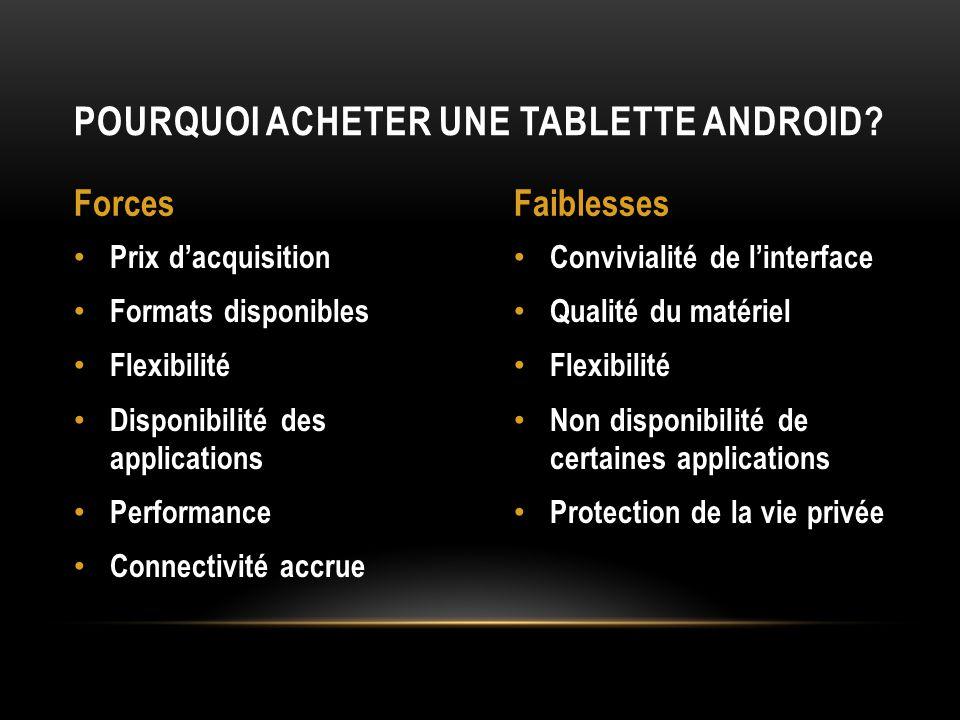 Pourquoi acheter une tablette Android