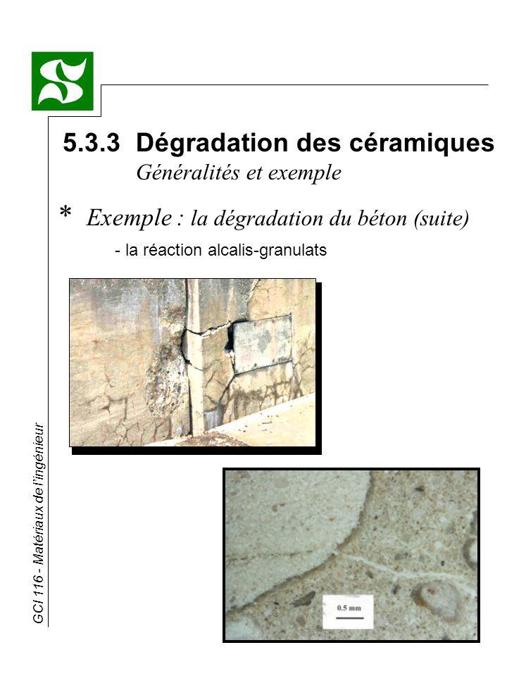 5.3.3 Dégradation des céramiques