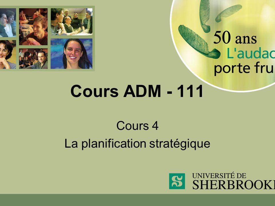 Cours 4 La planification stratégique