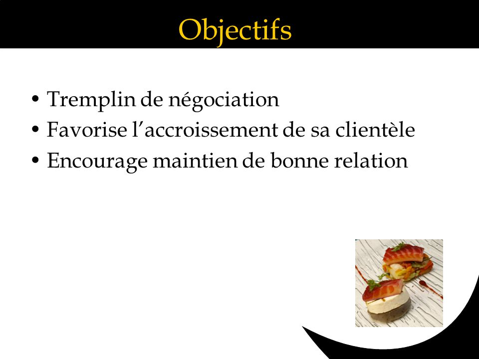 Objectifs Tremplin de négociation