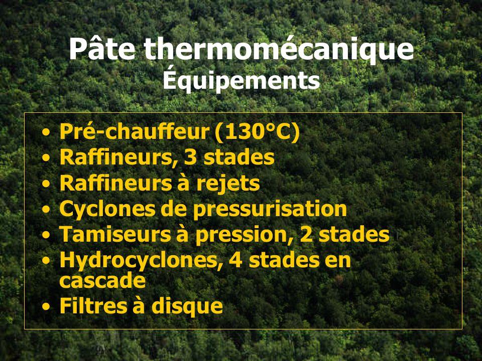 Pâte thermomécanique Équipements