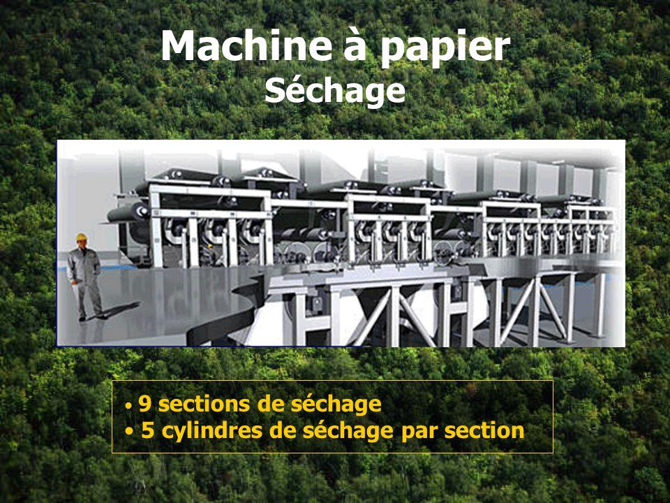 Machine à papier Séchage