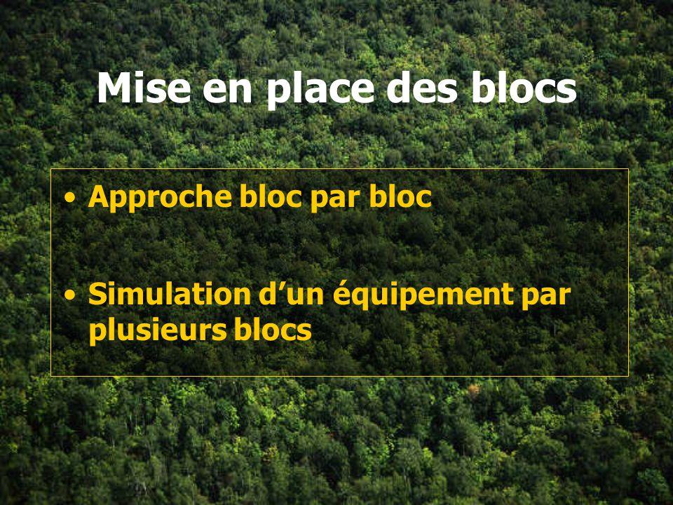 Mise en place des blocs Approche bloc par bloc