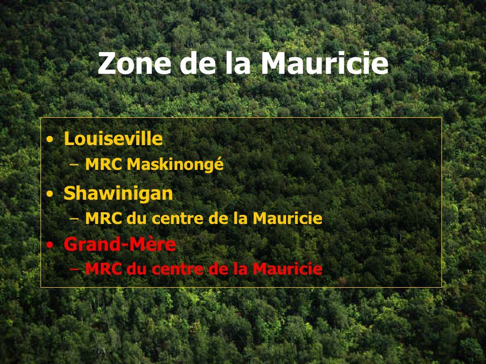 Zone de la Mauricie Louiseville Shawinigan Grand-Mère MRC Maskinongé