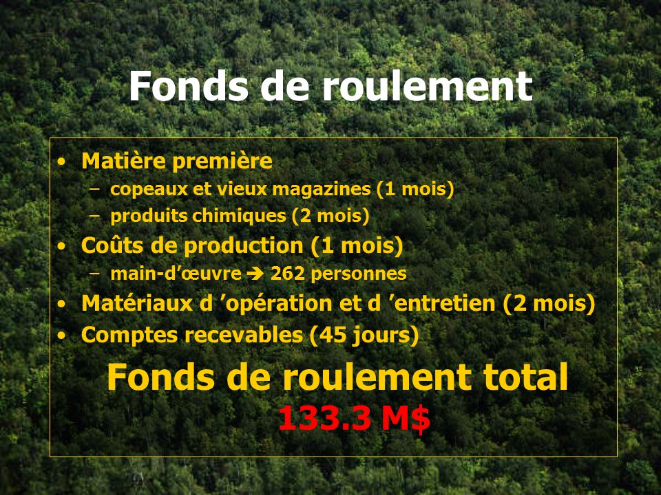 Fonds de roulement total