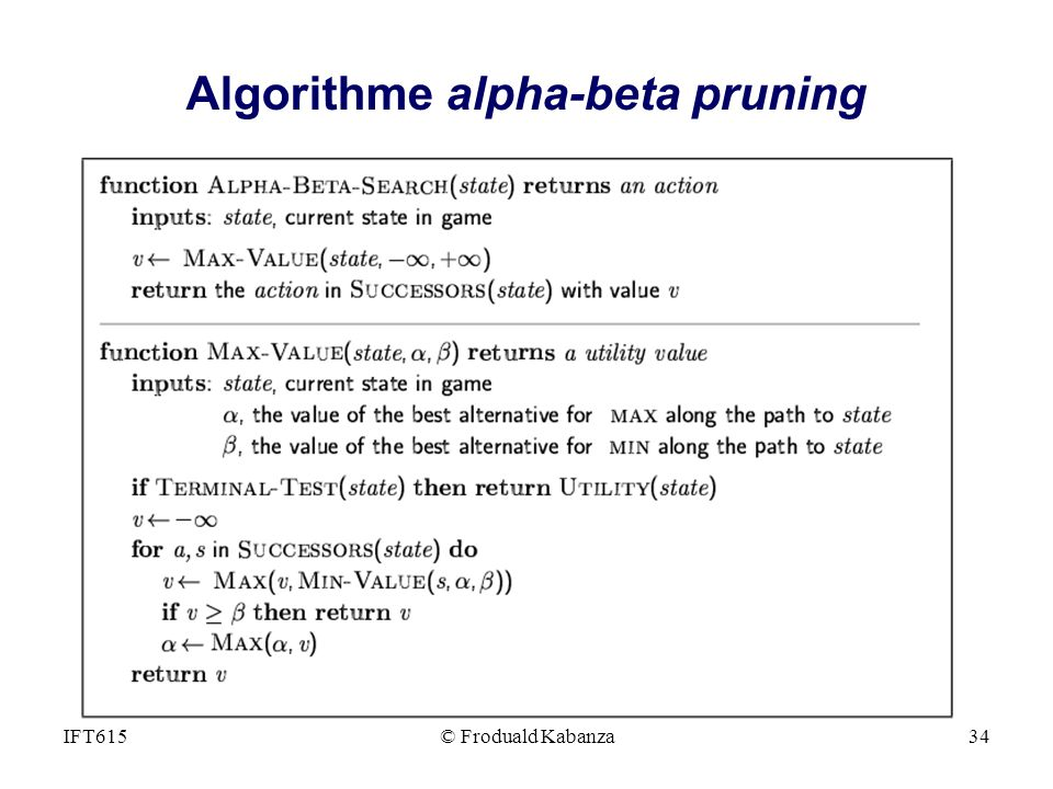 Algorithme alpha-beta pruning