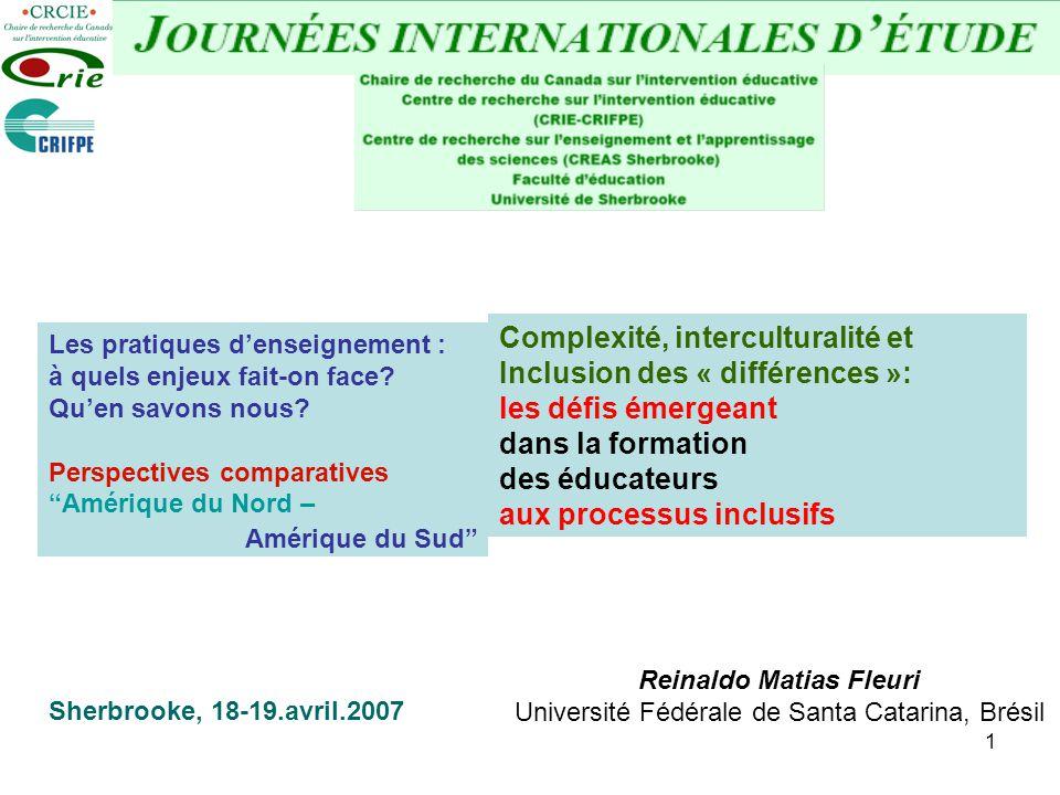 Complexité, interculturalité et Inclusion des « différences »: